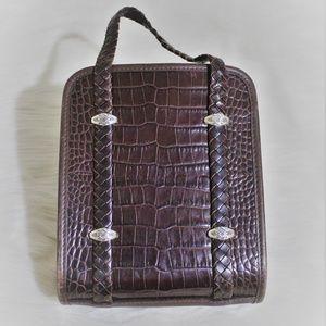 Adorable Brighton Croc embossed leather mini bag